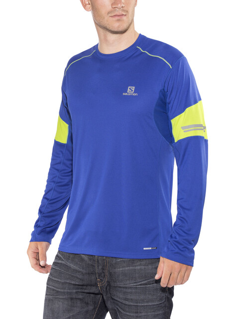 Salomon Agile Hardloopshirt lange mouwen Heren blauw